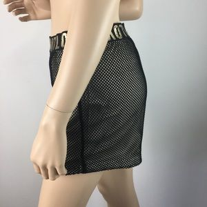Goodtime Shorts - Goodtime Black High Rise Mesh fishnet Short Large